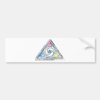 Triángulo del Celtic de la gimnasia Pegatina Para Auto