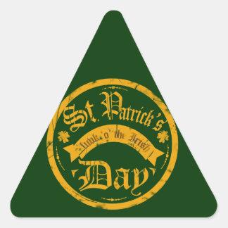 Triángulo del día de St Patrick - pegatina formado