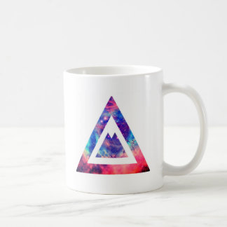 Triángulo del espacio del inconformista taza de café