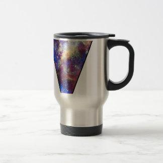 Triángulo del espacio tazas de café