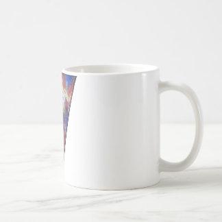 Triángulo del espacio taza de café