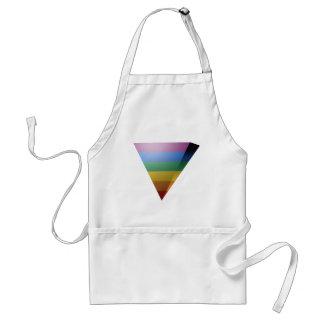 TRIÁNGULO del ORGULLO 3D de LGBT Delantales