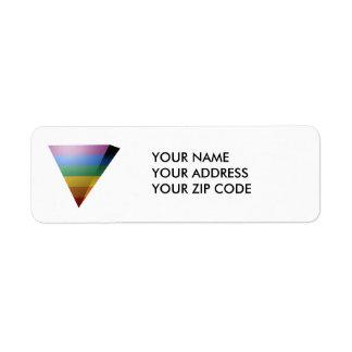 TRIÁNGULO del ORGULLO 3D de LGBT Etiqueta De Remite