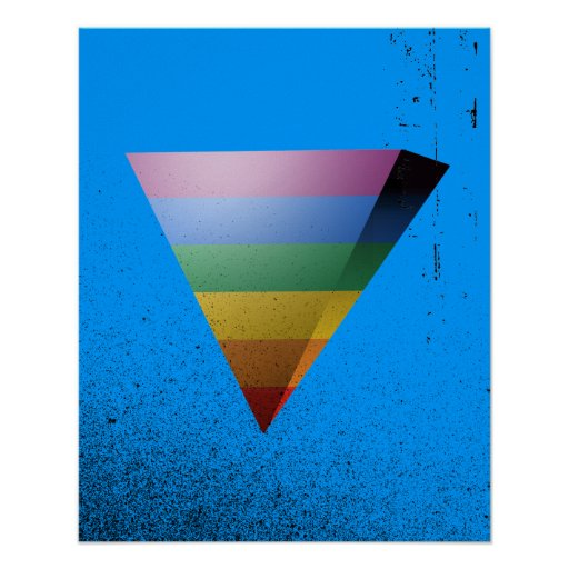 TRIÁNGULO del ORGULLO 3D de LGBT Poster