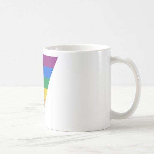 Triángulo del orgullo gay taza básica blanca