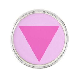 Triángulo del rosa del orgullo gay pin