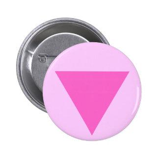 Triángulo del rosa del orgullo gay pin redondo de 2 pulgadas