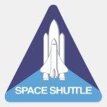 Triángulo del transbordador espacial pegatinas trianguloes