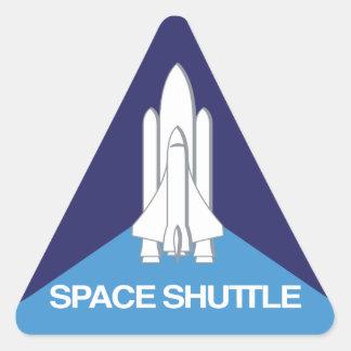 Triángulo del transbordador espacial pegatina triangular