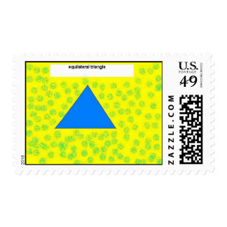 triángulo equilateral timbres postales