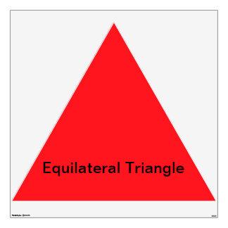 Triángulo equilateral vinilo