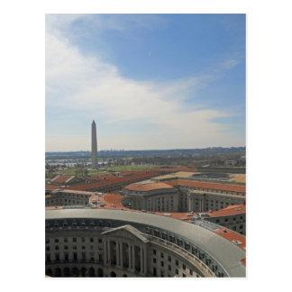 Triángulo federal del monumento de Washington Postales