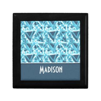 Triángulo fresco; Azul Cajas De Recuerdo