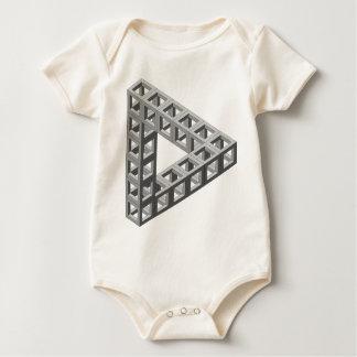 Triángulo imposible de la ilusión óptica trajes de bebé
