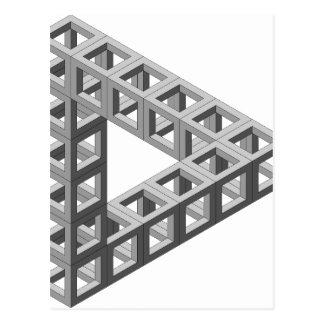 Triángulo imposible de la ilusión óptica postal