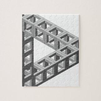 Triángulo imposible de la ilusión óptica