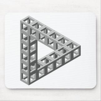 Triángulo imposible de la ilusión óptica tapetes de raton