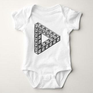 Triángulo imposible de la ilusión óptica tee shirt