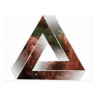 Triángulo imposible tarjeta postal