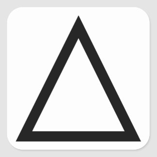 Triángulo Pegatina Cuadrada