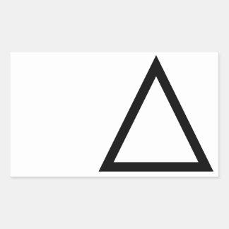 Triángulo Pegatina Rectangular