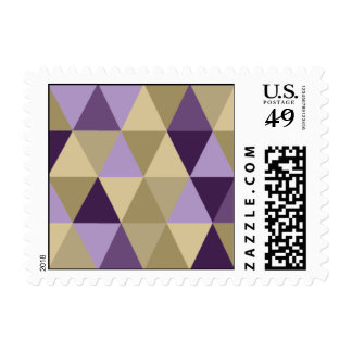 - Triángulo - púrpura geométrica y oro Sellos Postales