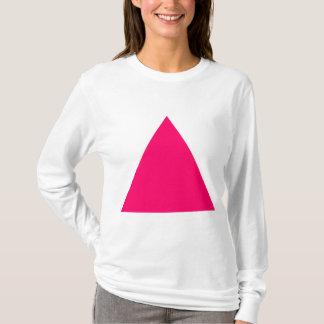 Triángulo - rojo de neón playera