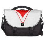 Triángulo rojo del corazón bolsas para ordenador
