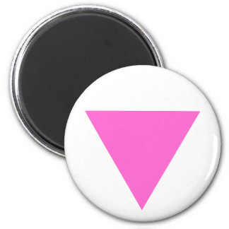 Triángulo rosado iman de nevera