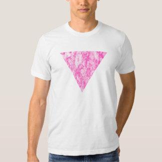 triángulo rosado playeras