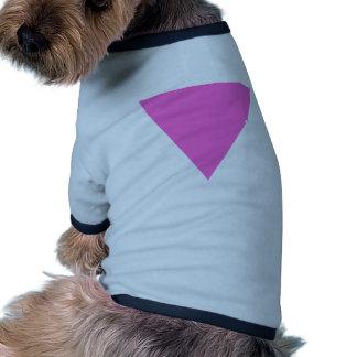 Triángulo rosado camisa de perrito