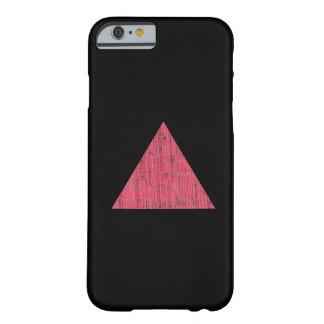 Triángulo rosado sellado doble funda de iPhone 6 barely there