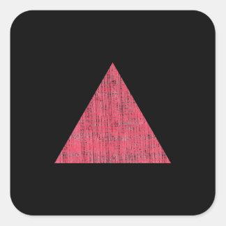 Triángulo rosado sellado doble calcomanías cuadradases