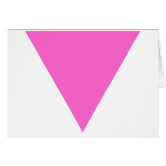 Triángulo rosado tarjeta de felicitación