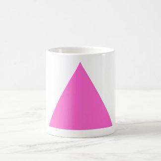 Triángulo rosado taza