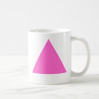 Triángulo rosado taza clásica