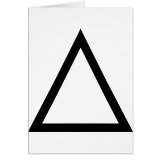 Triángulo Tarjeta De Felicitación