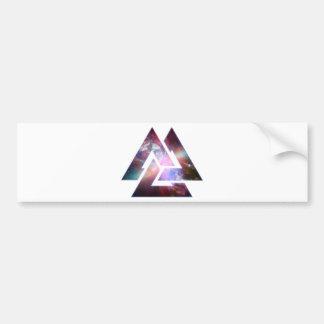 Triángulo triple cósmico del nudo pegatina para auto