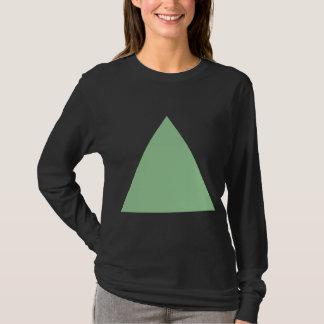 Triángulo - verde descolorado playera