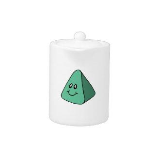 Triángulo verde feliz lindo