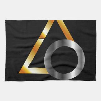 triángulo y anillo toallas