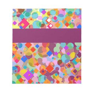 Triángulo y modelo de punto coloridos blocs de notas