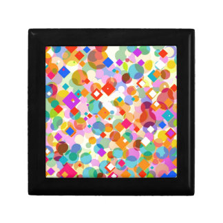 Triángulo y modelo de punto coloridos caja de recuerdo