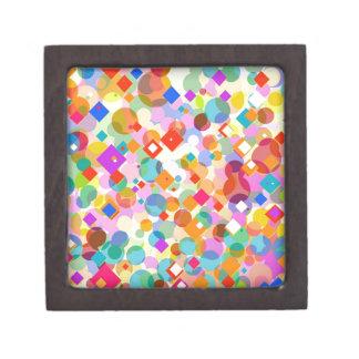 Triángulo y modelo de punto coloridos cajas de regalo de calidad