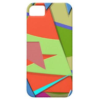 Triángulos abstractos 1 iPhone 5 carcasa