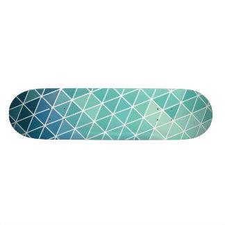 Triángulos abstractos de la aguamarina monopatin