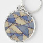 Triángulos abstractos llaveros