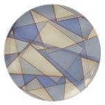 Triángulos abstractos plato de comida