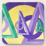 Triángulos abstractos posavasos