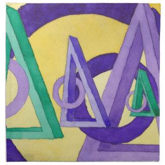 Triángulos abstractos servilleta de papel